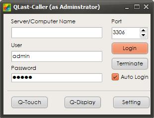 Form Login QCaller