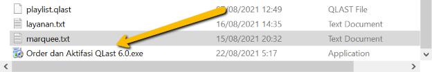 Install file aktifasi